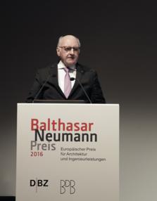16_04_21 Präsident Hans Georg Wagner, Verleihung Balthasar Neumann Preis 2016 (web 223x286)_DBZ