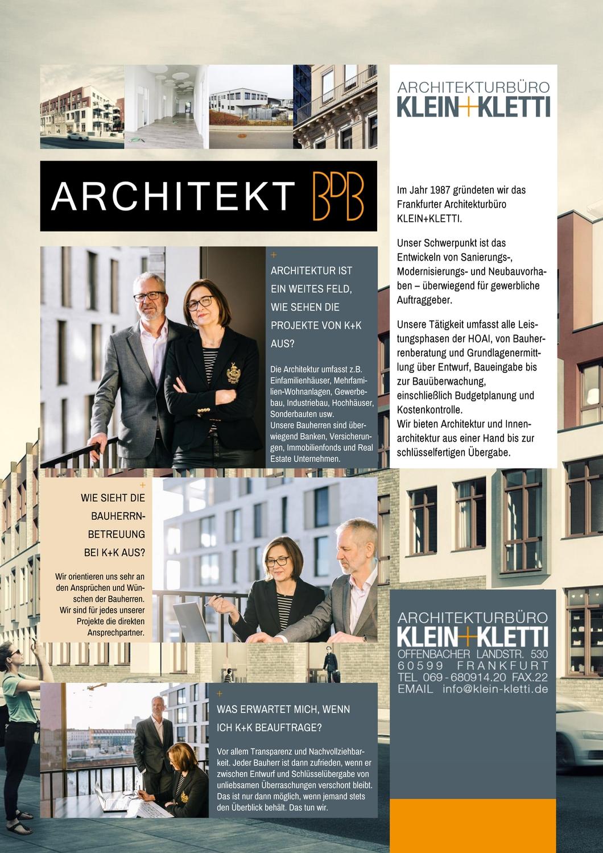 ARCHITEKT BDB Klein+Kletti