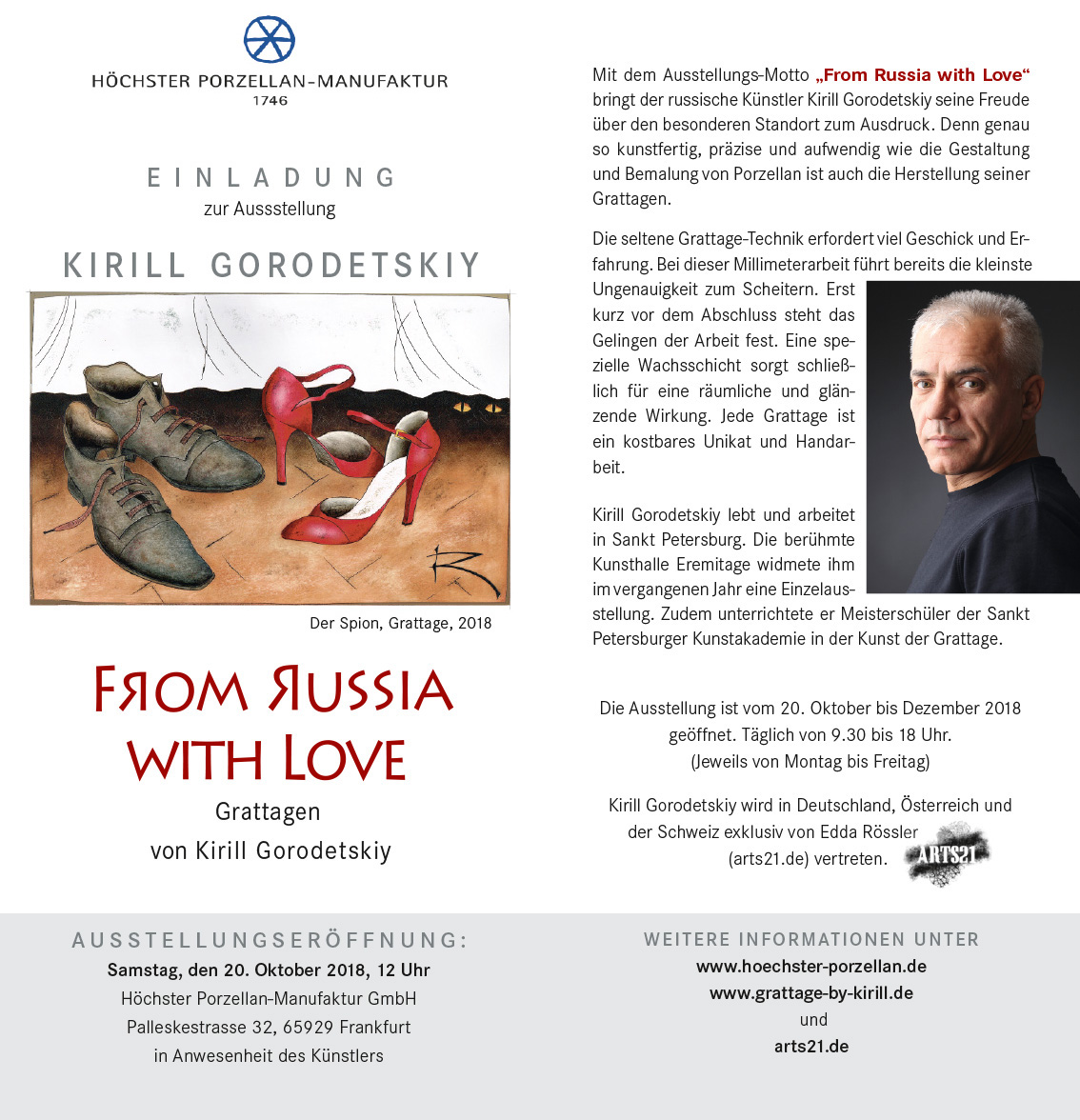 Vernissage Kirill Gorodetskiy in der Höchster Porzellan-Manufaktur